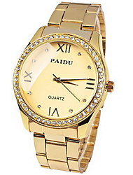 Women's Watch Fashion Diamond Dial Gold Steel Cool Watches Unique Watches