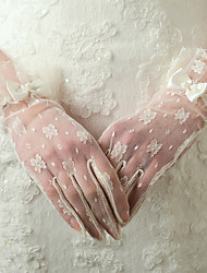 Wrist Length Fingertips Glove Nylon Bridal Gloves Party/ Evening Gloves Spring Summer Fall Winter lace