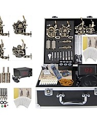 Basekey Tattoo Kit K0184 4Guns Machine With Power Supply Grips Cleaning Brush  Needles