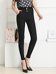 High Quality Women's Elegant Slim Skinny Pants,Work / Casual / Day Casual High Rise pencil pants