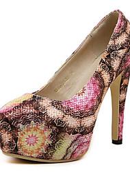 Calçados Femininos-Saltos-Saltos-Salto Agulha-Colorido-Courino-Festas & Noite