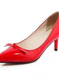 Zapatos de mujer-Tacón Stiletto-Tacones-Tacones-Oficina y Trabajo / Vestido / Fiesta y Noche-Semicuero-Negro / Rojo / Almendra