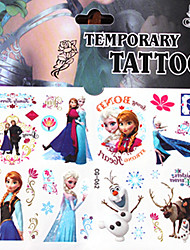 Christmas / New Year Beauty Queen Series Paper Tattoo Stickers Tattoo Stickers(10pcs)