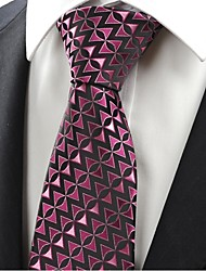 Cravate(Noir / Rose,Polyester)Motif