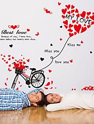 Palavras e Citações / Romance / Moda Wall Stickers Autocolantes de Aviões para Parede,PVC 50*70cm(19.7*27.6 inch)