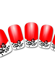 xf821 rouge 3d abstrait français ongles autocollants