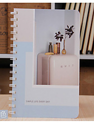 1PC Coil Weather Pattern Notebook Diary Cute Journal  Stationery Office School Supplies(Style random)