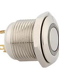 16 milímetros 3v led azul interruptor de metal botão de pressão momentânea para o carro
