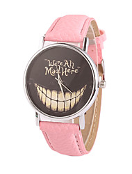 Women's European Style Fashion Cartoon Smiling Face Big Mouth Casual Quartz Watch Cool Watches Unique Watches