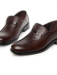 Men's Spring Summer Fall PU Office & Career Casual Party & Evening Low Heel Others Black Brown