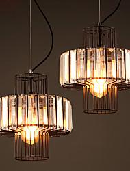 MAX 60W Lampe suspendue ,  Vintage Peintures Fonctionnalité for Cristal MétalSalle de séjour / Chambre à coucher / Bureau/Bureau de