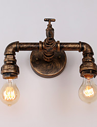 Retro Water Tap Wall Sconces Mini Style Rustic Lodge Metal