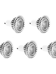 6w gu10 led spotlight 1 cob 250-300 lm blanc chaud / blanc froid / blanc naturel réglable 220-240 v 5 pcs
