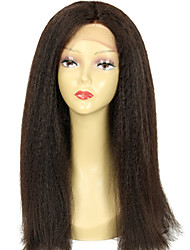 Coarse Italian Yaki Wig Virgin Brazilian Kinky Straight 130 Density Full Lace Human Hair Wigs with Baby Hair