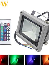 10W Focos LED 1 LED Integrado 1000LM lm RGB Impermeable / Control Remoto / Decorativa DC 12 V 1 pieza