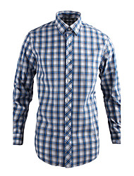 JamesEarl Herren Hemdkragen Lange Ärmel Shirt & Bluse Hellblau - MB1XC000905