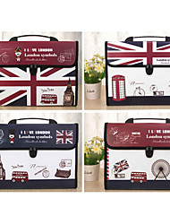 Multifunction Portable Files Folders & Filing for Office Car Pattern