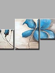 "gestreckt (fertig zum Aufhängen) bemalt Hand Ölgemälde 40 ""x28"" Leinwand Wandkunst modernes Blumen blauen Rosen"