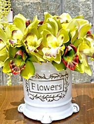 Полиэстер Орхидеи Искусственные Цветы