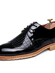Zapatos de Hombre Oxfords Boda / Oficina y Trabajo / Fiesta y Noche Cuero Negro / Azul / Rojo / Blanco
