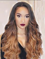 Unprocessed Gluesless 7A Brazilian Weave Virgin Human Hair Lace Wig T1B/30# Color  Full Lace Wigs