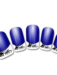 abstratos xf821 roxo francês 3d adesivos de unhas