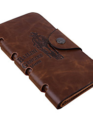 Fashion Men's Rock Wallet Bifold Leather Long Wallets