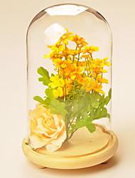 verre de style européen pour la décoration maison 1pc / set (vase avec des fleurs)
