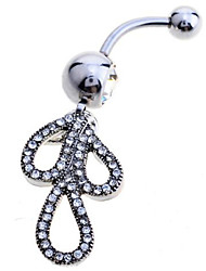 Charms jewelry Sterling Silver / Zircon / Gem Navel & Bell Button Rings Party / Daily / Casual 1pc