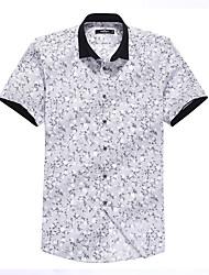 Sieben Brand® Herren Hemdkragen Kurze Ärmel Shirt & Bluse Schwarz-704A3E2988