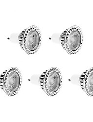 5W GU10 LED Spotlight 1 COB 450 lm Warm White Dimmable AC 220-240 V 5 pcs