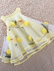 Girl's  Girls Dresses Organza Multi-layers Flower Party Pageant Wedding Princess Kids Clothing Dresses