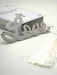 Love Pattern Stainless Steel Bookmark
