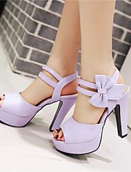 Women's Shoes Chunky Heel Peep Toe / Platform Sandals Party & Evening / Dress / Casual Black / Pink / Purple / Beige