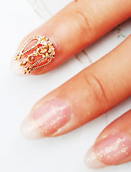 Lovely Mental Retro Hollow  Nail Jewelry