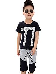 Boy's Cotton Summer Nember Short Sleeve Sport Clothes Set