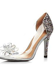 Синий / Серебристый / Золотистый-Женская обувь-Свадьба / Для праздника / Для вечеринки / ужина-Лак / Материал на заказ клиента-На шпильке-