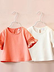 BK 3-6 Y Girl's Ruffle Cotton Summer Tee Top