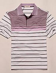 sete Brand® Masculino Colarinho de Camisa Manga Curta Camisa Roxa-71T532368