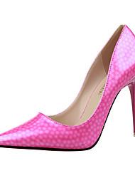 Women's Heels Summer Heels PU Casual Stiletto Heel Others Pink / Red / Gray / Fuchsia / Almond / Orange Others