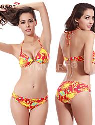 Bikinis / Zwei Stücke(Gelb) -Atmungsaktiv / Rasche Trocknung / Videokompression / Leichtes Material / Sanft- für Damen