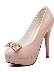 Women's Shoes Leatherette Stiletto Heel Heels Heels Wedding / Office & Career / Party & Evening Blue / Pink / Beige
