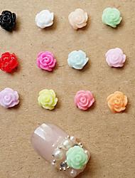 linda abs 5 milímetros 12types resina jóias prego (10 pcs)