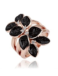 Women's Ring Silver Plated Luxury Flower Rings Fashion Jewelry for Women