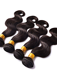 "4 Bundles Human Hair Weave 8""-26"" Unprocessed Brazilian Virgin Hair Natural Black Body Wave"