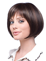 Women Bobo Brown Curly Synthetic Hair Wig