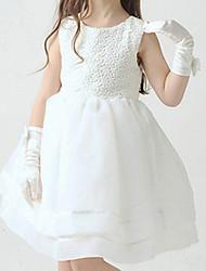 Girl's Beige Dress,Ruffle Polyester Spring / Fall