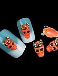 joyería punky del cráneo del clavo fluorescente mentales (5pcs)