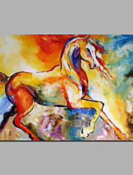 Canvas Art Painting Colorful Horse Painting With Stretcher/Ready To Hang For Home Wall Art Decoration