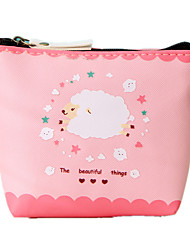 Girl Kid Coin Purse Animal Baby Sheep Zipper Case PU Leather Wallet Bag Pouch